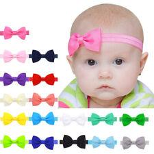 10pcs Baby Kids Girls Bowknot Hair Band Elastic Headband Lovely Headwear