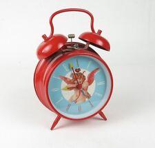 "Peg Leg Alarm Clock w/Twin Bells & Cupid ""A Time For Love"""