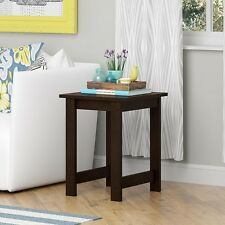 End Table Small Living Room Furniture Side Storage Shelf Wood Brown Nightstands