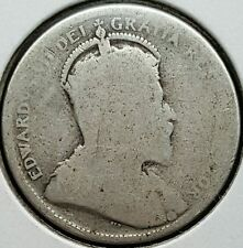 1903 Canada Quarter .925 Silver Coin King Edward VII 846,150 Minted KM#11 R