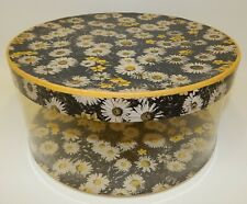 Vintage 1940s Clear Sided Daisy Floral Hat Box