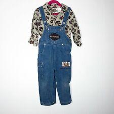 Harley Davidson Overalls Shirt Set Boys 2t