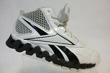 REEBOK Zigtech White/Black Sz 9.5 Men High-Top Basketbll Sneakers