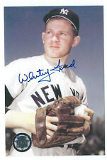 "WHITEY FORD AUTOGRAPH PHOTOGRAPH 4"" x 6"" AUTO COA FROM GFA Signed PHOTO"