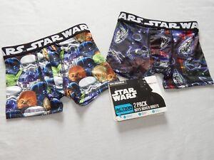 NEW Star Wars movie Boxer Briefs Compression Underwear 2pc Short Pants Kids BOYS