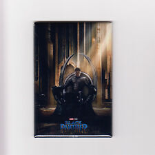 "BLACK PANTHER / THRONE - 2"" x 3"" POSTER MAGNET (avengers infinity war print 2018"