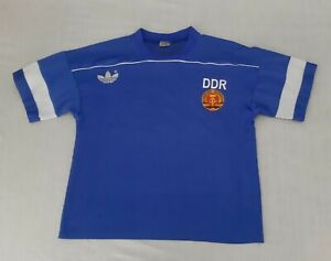 Adidas DDR Trikot Match Worn Jersey East Germany Vintage Shirt Trikot West Germ.