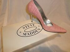 Steve Madden Tarrah Pink Croc. Print Leather Toe Pumps 7 1/2 Retails at $230