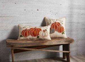 Mud Pie H0 Thanksgiving Gather Embroidered Pumpkin Pillow 41600402 Choose