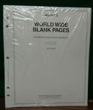 MINKUS BLANK Stamp Collection Album pages MF2BL 5 hole Master Global 20 pages