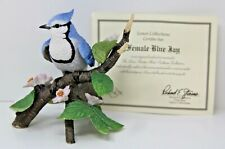 Lenox Female Blue Jay Bird Porcelain Figurine Garden Birds Collection 1995 W Coa