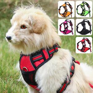 Pet Dog Lead Leash Adjustable Collar Vest No-Pull Padded Harness Sizes