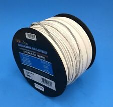 DEKA 14 AWG WHITE Marine Tinned Copper Boat Stranded Wire 100 Feet Made in USA