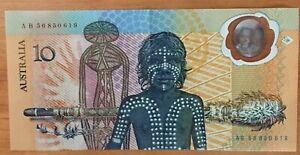 Australia1988 Bi-Centennial $10 note..R-310b. 2nd Issue-Prefix AB 56850619