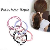 Simple Nylon Pearl Women Elastic Hair Bands Girls Hair Rope Hair Accessories