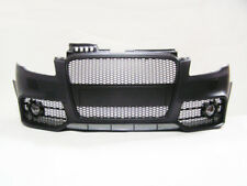 Audi A4 B7 2005-2008 RS4 Style Front Bumper with Fog Lamps,Black Front Grille