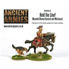 Mounted Roman General & Dog Miniatures - Hold Line 28mm Warlord Games Commander
