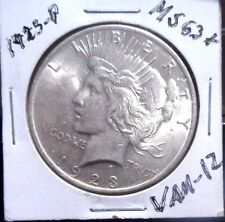 1923-P-UNC-Peace Dollar-Good-Eye-Appeal-VAM-1Z