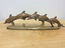 Pod of Swimming Dolphins Ornament  *  Nautical Coastal Home Decor.