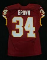 #34 Mack Brown of Washington Redskins NFL Game Issued Player Worn Jersey