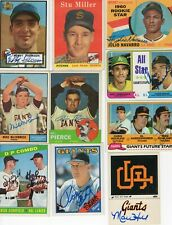 Autographed Giants San Francisco Topps Donruss Fleer All Years FREE SHIPPING