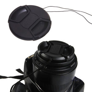 49mm Center Pinch Snap-On Cap Protector Cover For Canon Nikon Sony Camera Lens