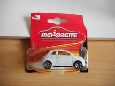 Majorette Fiat 500 in White on Blister