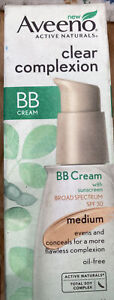 Aveeno Active Naturals Clear Complexion BB Cream In Medium W/SPF 30 Exp 2015