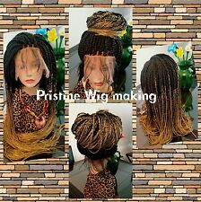 Gorgeous Fully hand braided 360 lace Frontal box braid wig color 1b,27  29-34