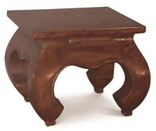 Small Timber Table, W40xD40xH35cm, Lamp Table, Plant Stand, Opium Mahogany.