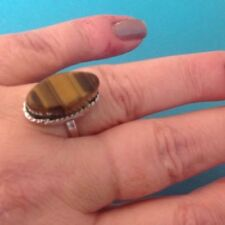 Dress Ring Size P, Tiger Eye