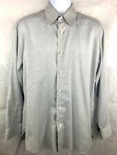 "Luigi Borrelli Papillion Men's Dress Shirt Made in Italy 15 1/2""  100% Cotton"