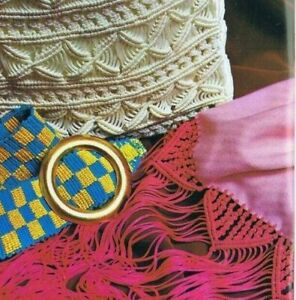 1970s Macrame Pattern- Book 2 Beginners Fringes Plant Hanger Wall Hangings Purse