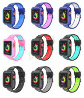 Rugged Protective Case with Strap Band For Apple Watch Series 4 3 2 1 38mm 42mm