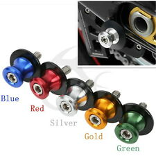 10mm CNC Swing Arm Sliders Spool For KAWASAKI ER-5 ER-6N 650R GTR1400 Z750S Blue