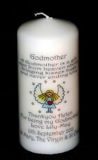 Thank you for being my godmother personalised candle gift Angel poem keepsake #4