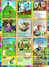 laminated NURSERY RHYMES educational teaching school type poster children kids