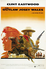 The outlaw Josey Wales 1976Clint Eastwood cult movie poster print