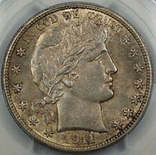 1911 Barber Silver Half Dollar, PCGS MS-62, Better Coin, Toned, DGH