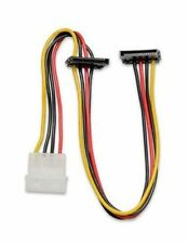 "Syba 12"" 4-Pin Molex Dual 2 x 15-Pin Right Angle SATA Power Cable - SY-CAB40018"