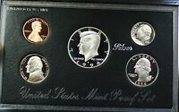1994-S U.S. Mint Complete SILVER Premier Proof Set Gem Coins with Box and COA