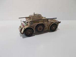 1:72 WW2 BUILT & PAINTED ITALIAN AB41 ARMOURED CAR