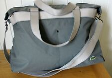 LACOSTE Weekender Duffle Bag Holdall New City Casual Grey