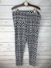 Bobbie Brooks Womens Plus Leggings Black & White