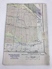 Vtg 1955 Williston y-4 Sectional Aeronautical Aviation Chart Map, 29th Edition