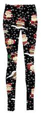 New Ladies Reindeer Face Snowflakes Tartan Check Santa Candy Stick Xmas Leggings
