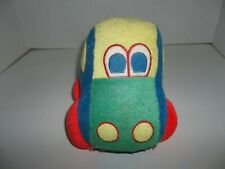 """eden terry cloth primary colors squeaky car plush 6"""" tall"""