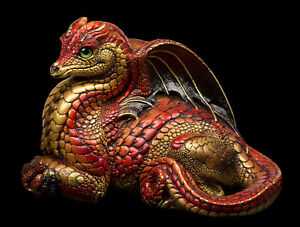 "Windstone Editions ""Brushfire"" Female Hearth Dragon Test Paint #1"