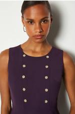 Karen Millen - £ 139-Suave Militar Vestido día-Nueva Con Etiqueta-Talla 16