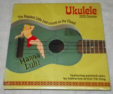 UKULELE, 2013 COLLECTABLE CALENDAR, SEALED, IMAGES OF 12 DIFFERENT UKULELE'S!